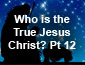 Who is the True Jesus Christ? Pt12